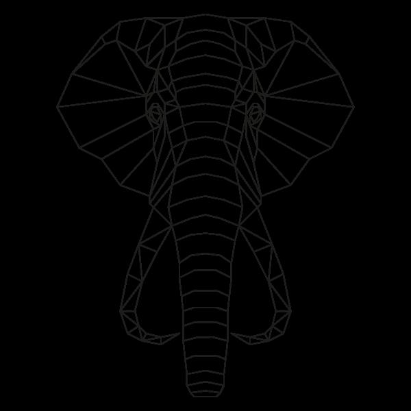 muurstickers-geometrische-dieren-olifant