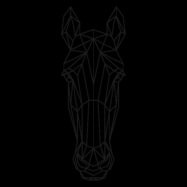 muurstickers-geometrische-dieren-paard