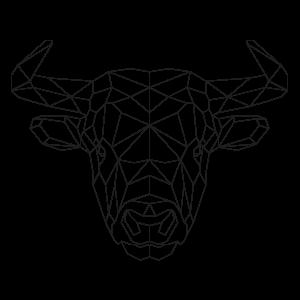 muurstickers-geometrische-dieren-stier